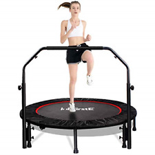 """FirstE 48"""" Foldable Fitness Trampolines, Rebound Recreational Exercise with 4"""