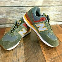 New Balance Youth Kids Sneakers Camp 574 Patches Boy Scouts Mustard Gray Sz 1