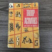 Boy Scouts of America --Troop Activities Handbook 1962