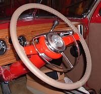 CLASSIC FORD Leather Steering Wheel Cover Wheelskins - Custom Fit You Pick Color