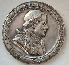 POPE PIO IX / GENERAL URQUIZA SILVERED BRONZE MEDAL