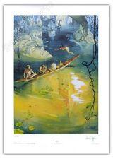 Affiche Lepage Forêt cathédrale Hommage Tintin Pratt Spirou 199ex signé 50x70