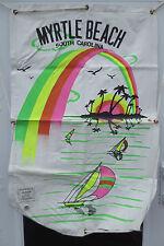 Vintage 1980's Neon Palm Trees Myrtle Beach Raft