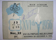 1956 OLYMPICS MELBOURNE Ticket ORIGINAL Autograph AL OERTER 4 times champion!!!!