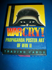 WAR CRY! PROPAGANDA POSTER ART WWII Factory Set of 36 Trading Cards KITCHEN SINK