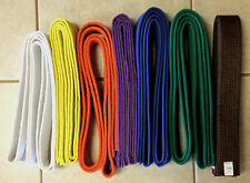 Karate Belt white yellow orange purple blue green brown New! Martial Taekwondo