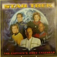Star Trek The Captains 2003 Wall Calendar  - Sealed Collectable Starfeet Rare