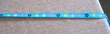 Grosgrain Ribbon - 1cm wide.  TURQUOISE FLORAL,  2mtr lngth  *NEW*