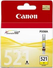 Genuine Canon CLI-521Y Yellow Ink Cartridge for Pixma iP3600 iP4600 iP4700
