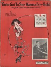 You've Got To See Mamma Ev'ry Night  Vincent Lopez photo '23 vintage sheet music
