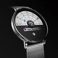DOM Herren Armbanduhr Analog Quarz Chronograph Uhr wasserdicht V6D5