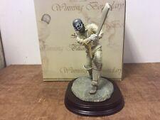 Cricket Player Statue Grey Helmet World Cup Cricket Batsman Ornament Figurine