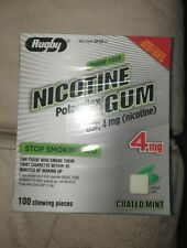 Rugby Nicotine Gum 4mg Coated Mint  1 box 100 pieces, exp: 2022