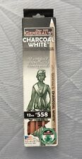 General Charcoal Pencil 558 White Box Of 12