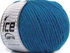 100 Gram Inca Alpaca Bulky Yarn #43730 Teal Blue Ice 40% Alpaca 50% Wool 10% Acr