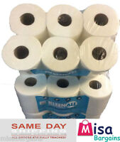 12 x WHITE 2PLY Centrefeed Paper Wiper Rolls Towels Maxi Kitchen Roll 40m/roll