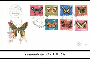 SURINAME - 1972 BUTTERFLY / BUTTERFLIES - 7V - FDC