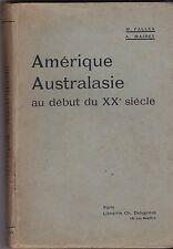 AMERIQUE AUSTRALASIE AU DEBUT DU XXe SIECLE    1917