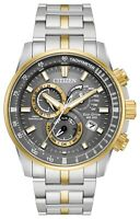 Citizen Eco-Drive Men's AT4124-51H Chronograph A-T Gray Dial Band 43mm Watch