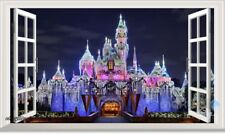 Disney Princess Castle Xmas Light 3D Window Wall Decal Kids Stickers Decor USA