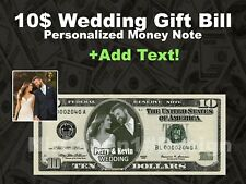 Personalized 10 Dollar $ with Your WEDDING Picture Custom Money Bill-DESIGN ONLY