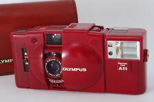 Olympus XA2 Red + A11 Flash + Case w/ D.Zuiko 35mm F3.5 from Japan m034