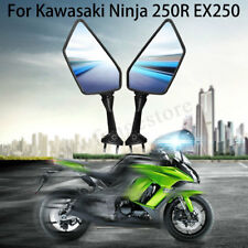 2x Left & Right Side Rear View Mirror Black For KAWASAKI NINJA 250R EX250 08-13