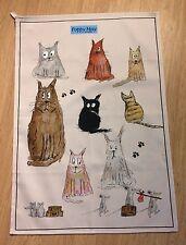 Divertido Gato y el ratón puede amapola toalla de té hecho en Reino Unido