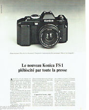 PUBLICITE ADVERTISING 1016  1980  Konica  appareil photo FS1