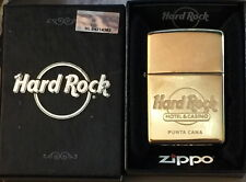 Hard Rock Hotel Casino PUNTA CANA Gold ZIPPO Lighter New in Box w/Sealed Sticker