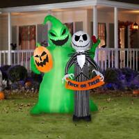 6.5 ft. Nightmare Before Christmas Oogie Boogie & Jack Skellington Inflatable