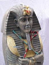 Ägyptische Figur Ägypten Statue Sarkhophag Skulptur Stein Lackierung CD Schrank