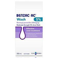 Benzac™ AC Daily Face Body Wash Cleanser Fix Acne Pimples 5% Benzoyl Peroxide