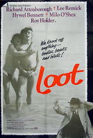 LOOT 1970 Lee Remick, Richard Attenborough, Hywel Bennett UK 1-SHEET POSTER