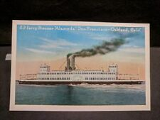 Southern Pacific Ferry Steamer ALAMEDA, OAKLAND, CA Naval Cover unused post card