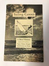 "1930's ""Sailing Canoes"" Amer. Canoe Association Wamsutta Sailcloth Advertising"