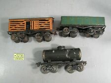 Ives Lot -  63 Gondola,  Tank Car, #65 STOCK CAR
