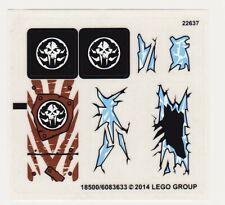 LEGO Chima Sir FANGARS Ice Fortress Ersatz Aufkleber Blatt # 2 Set 70147 Neu