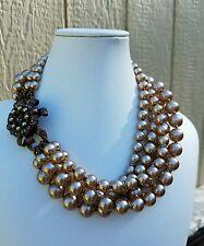 Vintage Miriam Haskell 5 Strand Baroque Pearl Necklace