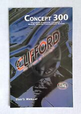 Clfford Concept 300 User Manual Thatcham Category 1 Mobile Security System