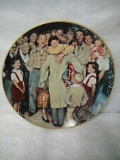"1987 Gorham Norman Rockwell Christmas Plate ""The Homecoming"" #4810"