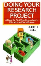 Doing Your Research Project: A Guide for First-time Researchers .9780335159871