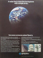 11/1981 PUB SPERRY RADAR SYSTEMS ARRAY TECHNOLOGY MISSILE ALARM ORIGINAL  AD