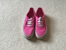 Girls Pink Vans Size 11 Lace Up (Young Girls), Holiday Beach Summer Pumps