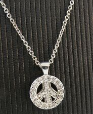 KC DESIGNS 14kt  WG DIAMOND PEACE SIGN Authentic N1857 BRAND NEW-SALE -16IN