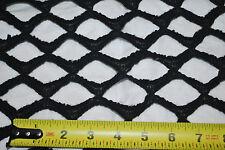 "Wool 100% italian knit fabric fishnet style 2"" wide Beautiful fishnet lace Black"