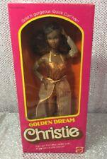 RARE VINTAGE 1980s GOLDEN DREAM CHRISTIE BARBIE DOLL 1980 MATTEL 3249 MINT NRFB