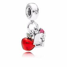 Authentic Pandora Disney, Snow White's Apple & Heart Dangle Charm, Red & Green