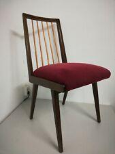 Vintage vertikal Sprossen Streben Stuhl Lübke Mid Century 50er 60er Jahre
