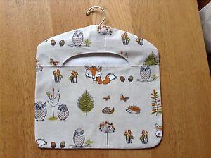 New Woodland Owls, Foxes Light Brown Peg Bag